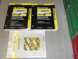 1993 Toyota Corolla Service Repair Shop Workshop Manual Set OEM w Wiring - $64.24