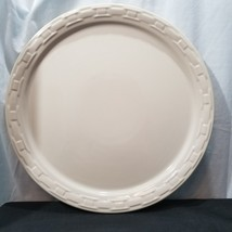 "Longaberger Woven Tradition Ivory 14"" Chop Plate - $37.39"