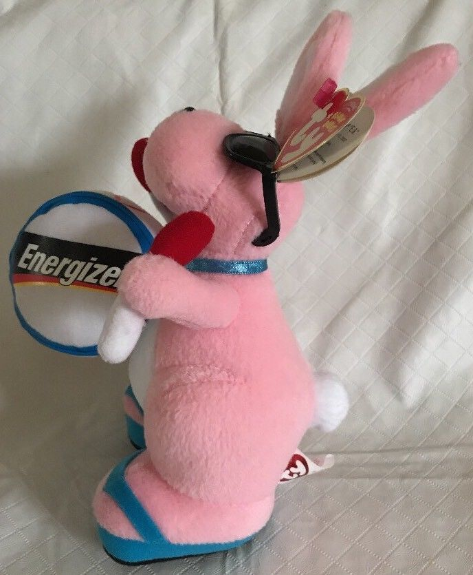 8f279e3d7b1 Ty ENERGIZER BUNNY Walgreens Exclusive Beanie Babies Plush MWMTs Pink  Glasses