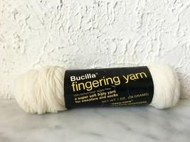 Vintage Bucilla Super Soft Acrylic Fingering Yarn - 1 Skein Color Ivory #103 - $5.65