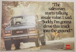1993 Print Ad GMC Sierra Pickup Trucks Strength of Experience - $12.85