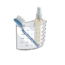 NEW InterDesign # 23500 Suction Bath Organizer - Combs Brushes - Clear - $11.18