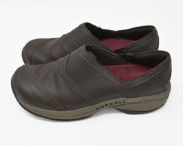 Merrell Jovilee Lattice Womens Sz 7 EU 37.5 Brown Leather Slip On Flats ... - $24.95