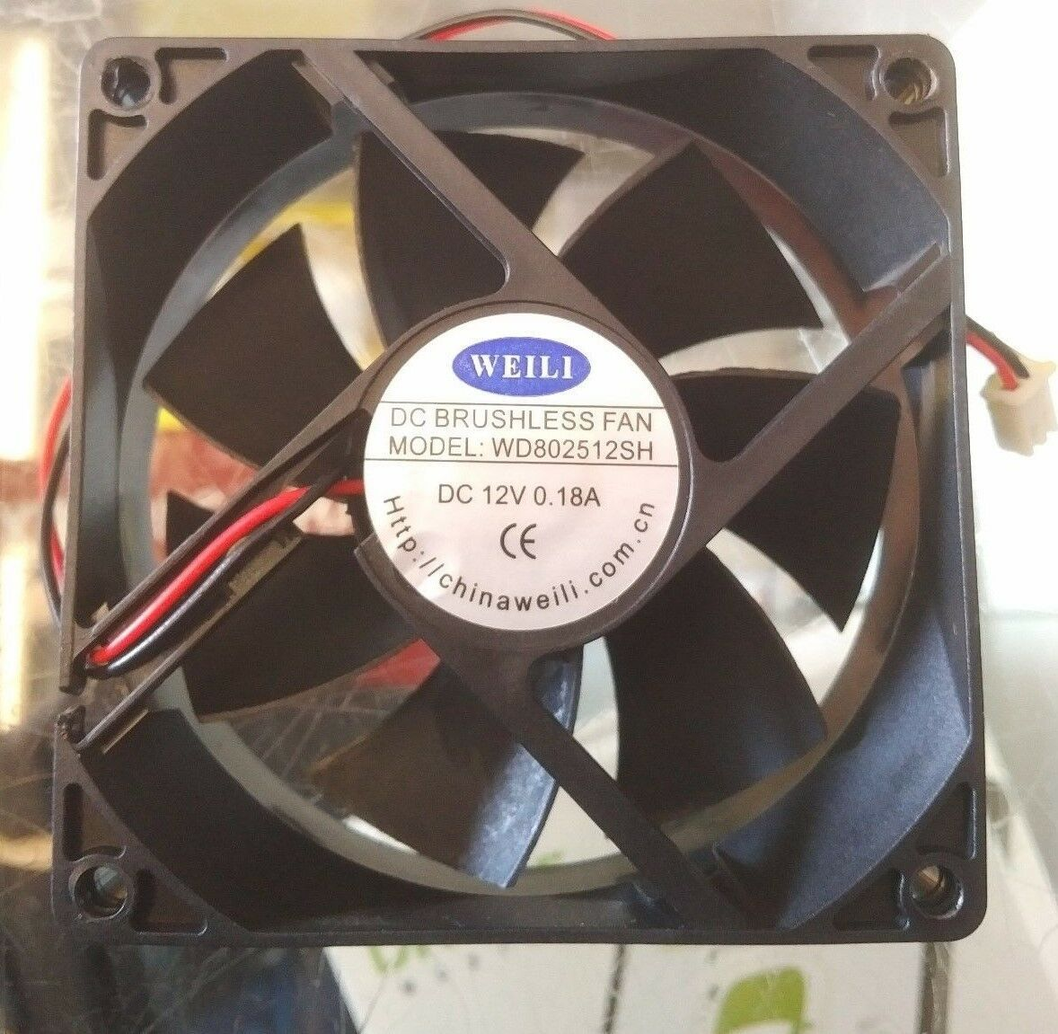 "WEILI WD802512SH DC 12 VOLT BRUSHLESS FAN 3.15""inch/80mm25mm"