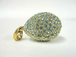 Super Fun 47.07mm Gold-Tone Crystal Encrusted Drop Key-Ring Charm 25.2g - $19.79