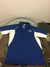 Indianapolis Colts Blue White NFL Team Apparel Polo Golf Shirt Small Exc... - $10.93