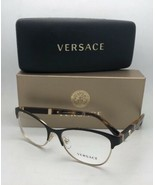 Neu Versace Brille MOD.1233-Q 1344 53-17 140 Braun & Gold Katze Auge mit... - $150.09