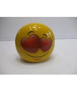 Yellow Ceramic Love Heart Emoji Coin Piggy Bank - $15.99