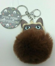 Royal Deluxe Accessories Brown Pom Pom Dog Keychain, Free Shipping - $7.87