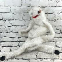 Vintage Plush Puppet White Sloth Shaggy Long Arms Legs Soft Pretend Play... - $24.74
