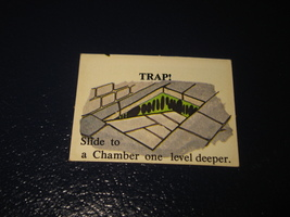 1980 TSR D&D: Dungeon Board Game Piece: Monster 3rd Level - Trap! - $1.00