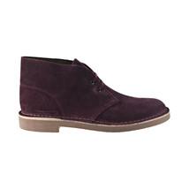 Clarks Bushacre 2 Men's Boots Wine Suede 26144487 - $55.00