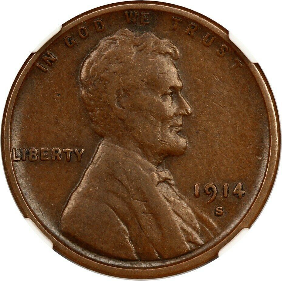 1914-S 1c NGC VF20 BN - Lincoln Cent image 3
