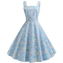 Women's Clothing Flora Printed Retro pendulum Causal Dresses #JY13678 - $35.00
