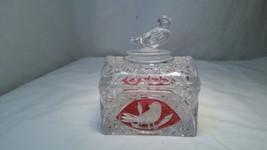 Hofbauer Red Byrdes Crystal Chest Box w/ Bird on Lid EUC (DC) - $37.36