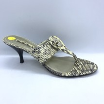 Nine West Snake Skin Heels Women Size 7 Flip Flop Slide Shoes Mules - $30.00