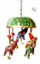 ELEPHANT HANGING WALL DOOR HANGING FESTIVAL DECORATIVE HANGING UMBRELLA - $17.05