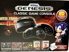 Sega Genesis Classic Game Console 80 Built in Games Two Wireless Control... - $39.59