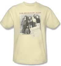 Breakfast Club T-shirt Free Shipping retro 80s movie cotton beige tee UNI362 image 3