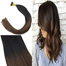 Youngsee 22inches Two Tone Hair Extensions I Tip Remy Human Hair Ombre N... - $49.93
