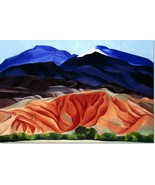 Stretched Canvas - Black Mesa Landscape Painting Georgia O'Keeffe Reprod... - $104.99+