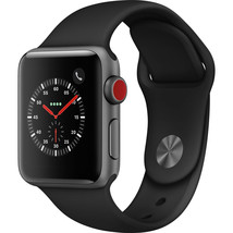 Apple Watch Series 3 GPS/Cellular 42MM Space Gray and Black Band MQK22LL... - $299.16