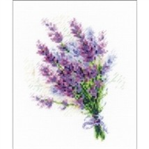 RIOLIS Counted Cross Stitch Kit, Bouquet With Lavender, Kit #R1607 - $11.68
