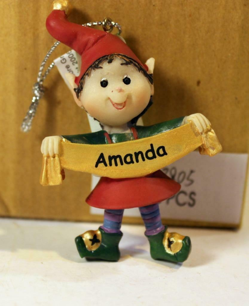 Primary image for CHRISTMAS ORNAMENTS WHOLESALE- RUSS BERRIE- #13805- 'AMANDA''-  (6) - NEW -W74
