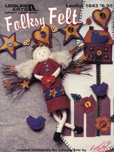 Folksy Felt Sewing & Decorating with Felt PATTERN/INSTRUCTIONS - $4.47