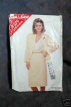 Butterick Misses' Jacket, Skirt and Blouse sz(14-16-18) - $1.75
