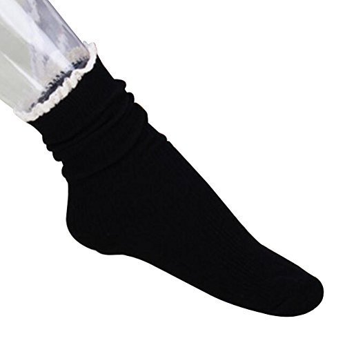 Fashion Boots Socks Crew Socks Soft Casual Socks Tube Socks-Black