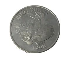 BUGS BUNNY 1998 WARNER BROS RARE NICKEL SILVER COIN In Case 2/3 Troy Oz - $34.19