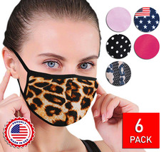 Women's Reusable Face Covers Cloth Protection Masks Handmade In The USA Lot of 6 image 1
