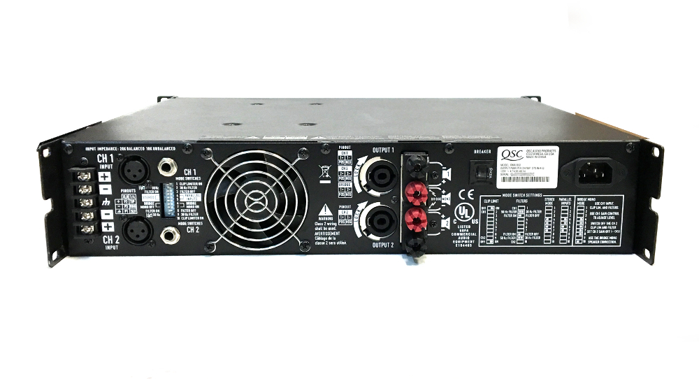 qsc power amplifier rmx 850 amplifiers preamps. Black Bedroom Furniture Sets. Home Design Ideas