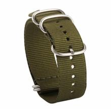 20mm x 255mm Nato Canvas Heavy duty Nylon wrist watch Band strap ARMY GREEN - $15.52