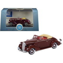 1936 Buick Special Convertible Coupe Cardinal Maroon 1/87 (HO) Scale Die... - $19.54