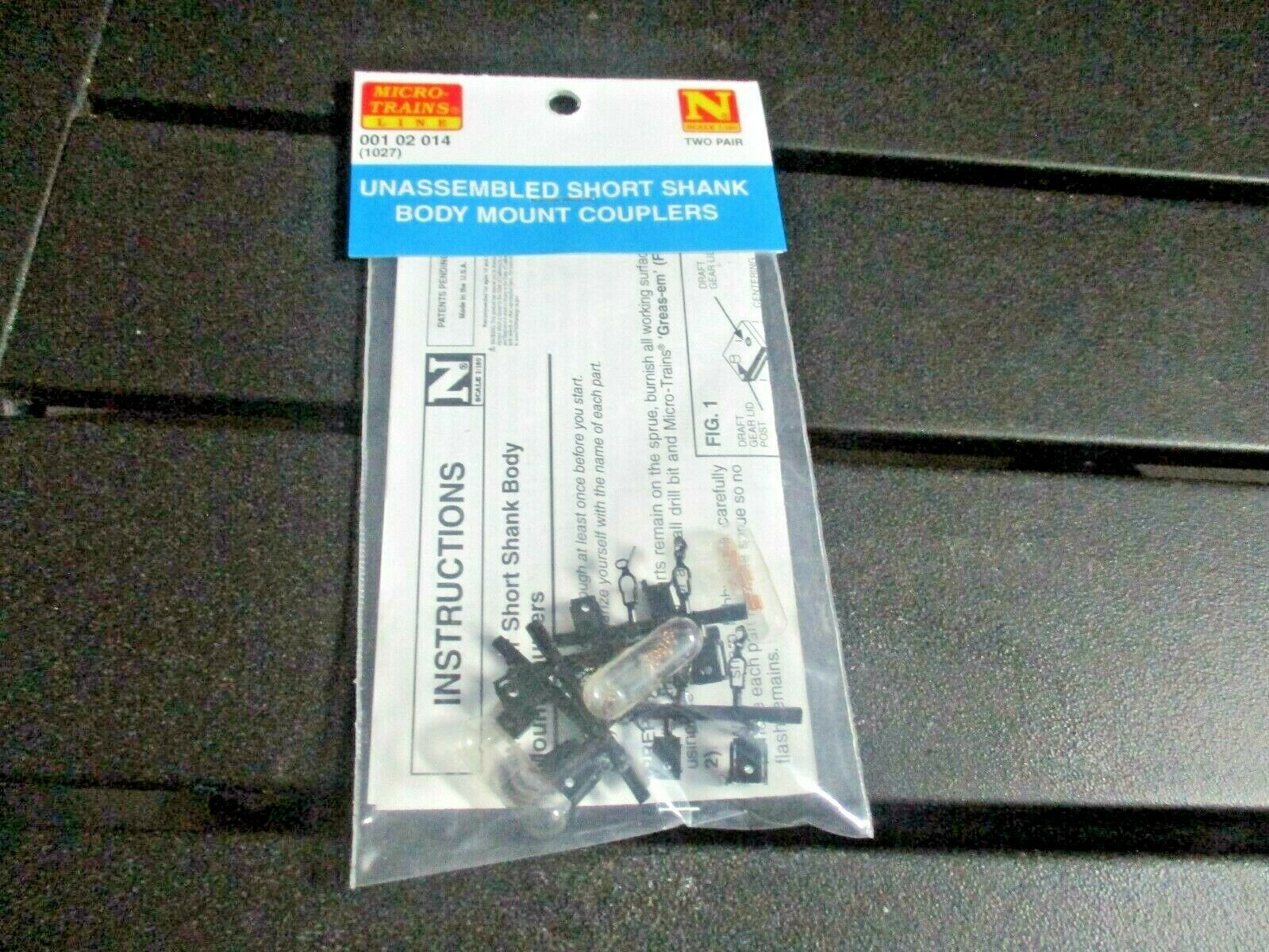 Micro-Trains Stock # 00102014 (1027) Unassembled Short Shank Body Mount Coupler