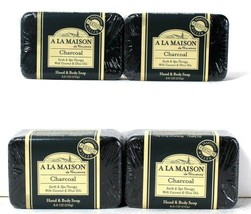 4 Count A La Maison 8.8 Oz Charcoal Coconut & Olive Oils Hand & Body Soap - $24.99