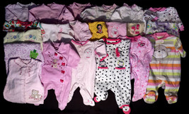 Lots of Girl's Size 0-3 Months One Piece Footed Pajama Outfits Carter's+... - $3.38+