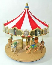 Hallmark Keepsake 2004 Carousel Ornament Display With Animals QX8481 Music - $138.59