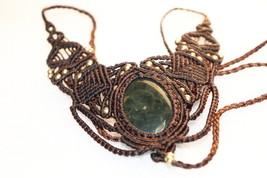 Handmade Macrame Necklace  Jewelry Jasper Cord Handmade Bohemian137 - $15.00