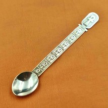 Vintage Engraved Solid Egyptian Silver Spoon Of Ancient Cross Ankh Key...Stamped - $44.06