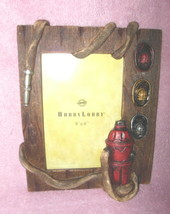 RESIN FIREMAN FIREFIGHTER THEMED HYDRANT HOSE HATS  PHOTO PICTURE FRAME ... - $24.99