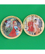 """Pair Of 1995 Barbie Collectible Mini-Plates, """"From Barbie With Love"""" Series - $6.95"""
