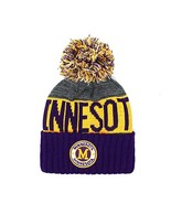 Minnesota Men's Winter Knit Landmark Patch Pom Beanie (Purple/Gold/Gray) - $13.89