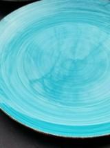 Royal Norfolk Stoneware Dinner Plate Blue Turquoise - $14.24