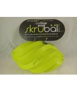 PetProjekt Skrubal Dog Chew Football Toy Green Med Lge Natural Rubber No... - $5.53