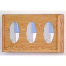 Wooden Mallet 3 Pocket Glove and Tissue Box Holder in Light Oak 87896300... - $48.93