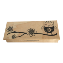 Hero Arts Rubber Stamp Flower Branch with Owl Whimsical Floral Card Maki... - $9.99