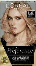 L'oreal Santorini Medium Rose Gold 8.23 Permanent Hair Colour Dye New Shade - $24.69